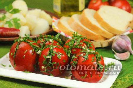 помидоры по грузински быстрого приготовления