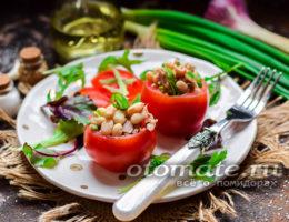 помидоры фаршированные тунцом и белой консервированной фасолью