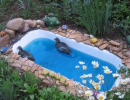 пруд из ванны