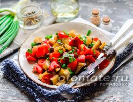 салат из печеных баклажанов