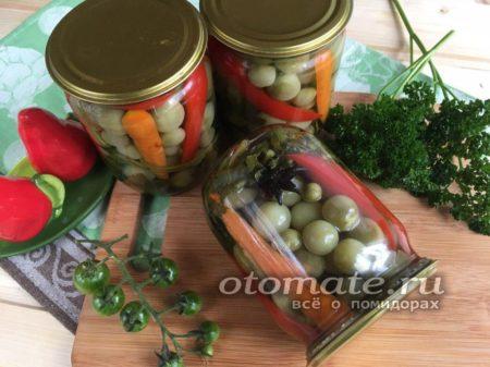 вкусные зеленые помидоры